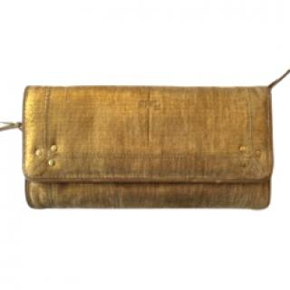 Jerome Dreyfuss Gold Clutch Bag