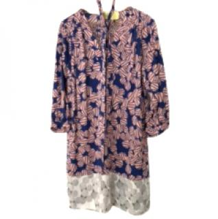DVF blue and mauve silk tunic