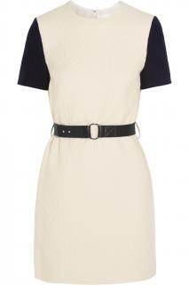 Victoria Victoria Beckham Woven Cable Cream dress