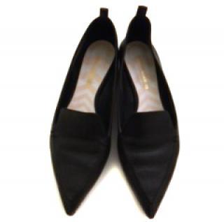 Nicholas Kirkwood black beta grain loafers