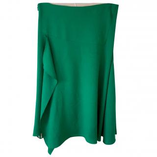 Chloe green asymmetrical skirt