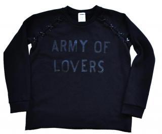 Zoe Karssen 'Army of Lovers' black sweatshirt top