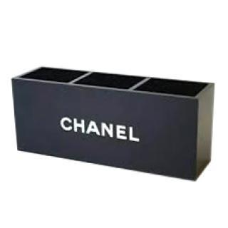 Chanel VIP GIFT Black Acrylic Brush Holder