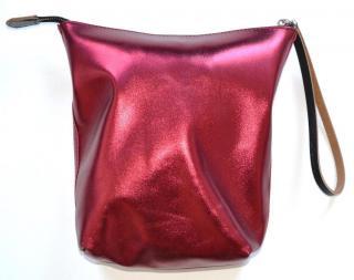 Marni metallic leather pouch bag