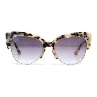 Sonix Dafni Sunglasses in Milk Tortoise Print