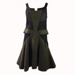 Givenchy Wool and Leather Mini Dress