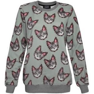Markus Lupfer Cat Print Sweatshirt