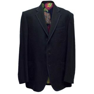 Etro Navy Textured Blazer