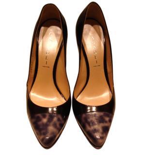 Casadei Black Patent Blade Shoe