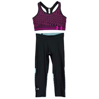 Under Armour Black Cropped Lycra Leggings & Sports Bra