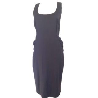 Moschino Cheap and Chic Side Drapped Brown Mid-length Dress