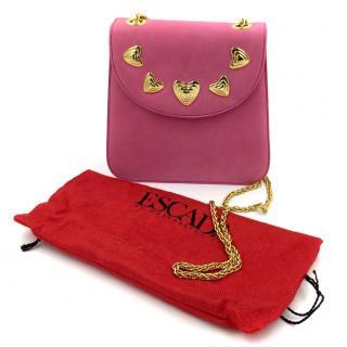 Escada Pink Gold Love Heart Evening Shoulder Bag