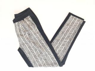 Essentiel Antwerp Bicolor Chevron Print Crepe Trousers