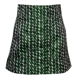 Kuho Green Patterned Mini Skirt