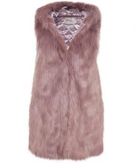 PARKA LONDON PHOEBE Faux Fur Sleeveless Jacket