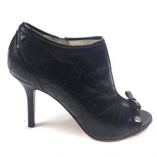 Christian Dior Black Peeptoe Bootie