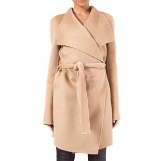 Joseph Camel Cashmere Wrap Coat