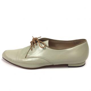 Manolo Blahnik Cream Flats