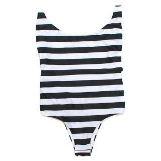 Sahara Ray Black and White Striped Swimming Costume