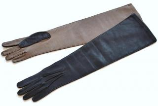 Marni long leather gloves