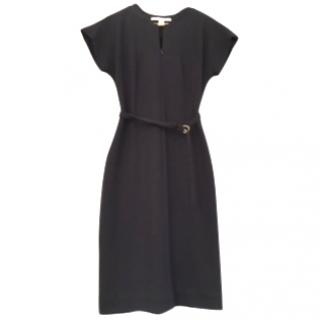 DVF black contour fitted stretch dress