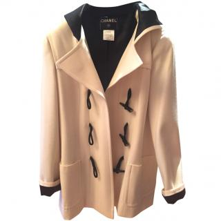 Chanel cream wool coat