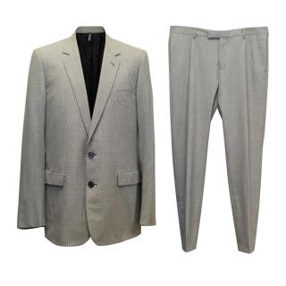 Dior Black and Grey Houndstooth Two Piece Suit