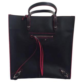 Balenciaga Papier A5 Metallic Edge Bag Black Red