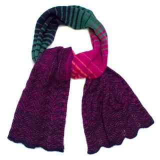Missoni Pink Knitted Wool Scarf