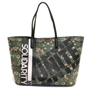 Marc by Marc Jacobs Green Floral Coated Canvas Shopper