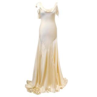 Luisa Beccaria Cream Silk Wedding Gown