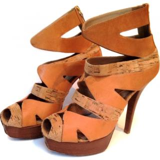 Fendi Tan Leather heels size 7/40