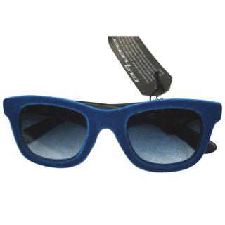 Italia Independent funky velour sunglasses