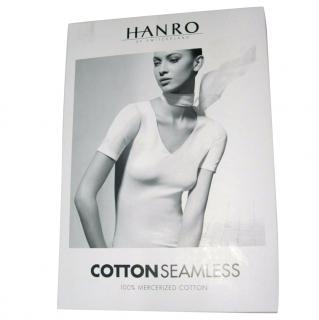 Hanro  cotton seamless top, Black size S new