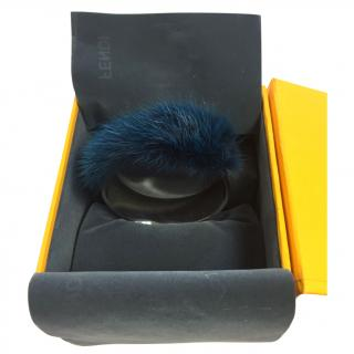 FENDI blue fur cuff