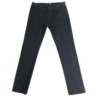 BALENCIAGA PARIS men's black slim fit stretchy jeans