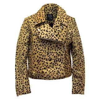 Alexander Mcqueen Printed Calf Hair Jacket