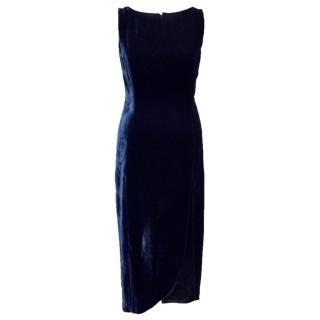 Catherine Walker Blue Velvet Dress