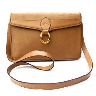 Christian Dior Vintage Beige Shoulder Crossbody Clutch Bag