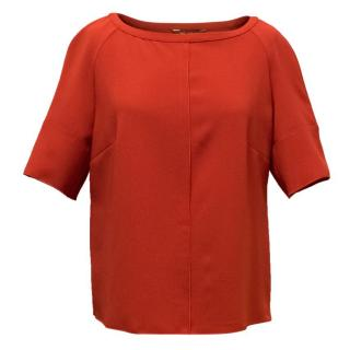 MaxMara Red Short Sleeve Blouse