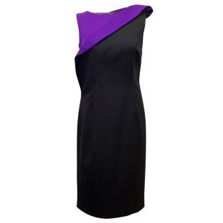 Jil Sander Black & Purple Dress
