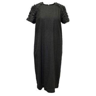 Bamford Grey Ruffled Dress