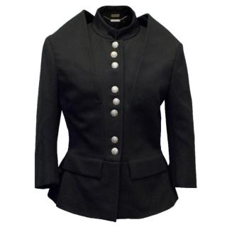Alexander McQueen Black Military Style Jacket