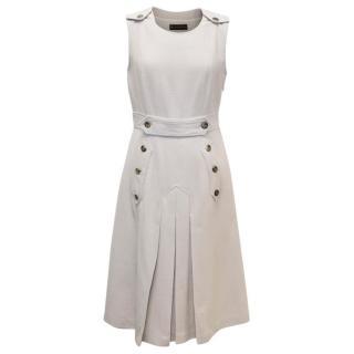 Burberry Beige Wool Pleated Dress
