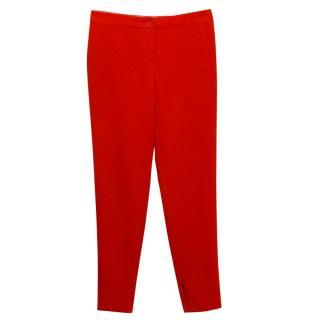 MaxMara Studio Red Cigarette Trousers