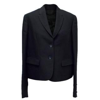 Burberry Prorsum Navy Blue Cropped Jacket