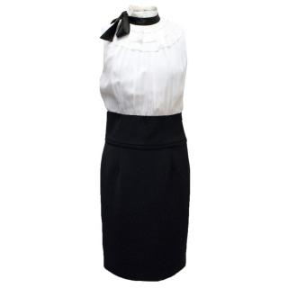 Paul & Joe Black and Cream Dress With Bow Detail