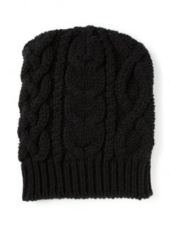 BALMAIN cable knit slouchy beanie hat