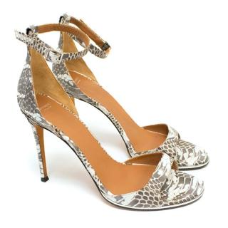 Givency Python High Heel Sandals