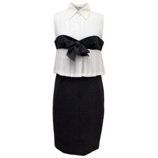 Chanel Black and Cream Dress with Black Bow Detail
